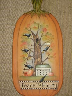 This is a Lynne Andrews piece that I painted this year for my Fall Craft Show. I really love to paint pieces designed by Lynne. Painted by Deege.