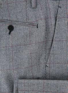 New Donnanna Gray Plaid Pants - Slim - 40/56 Mens Dress Pants, Plaid Pants, Gray Pants, Men Dress, Slim, Grey, Shirts, Gray, Dress Shirts