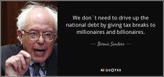 bernie sanders on US debt - Google Search