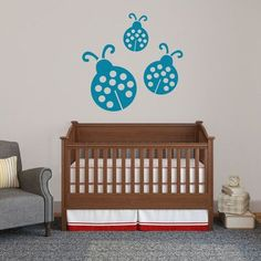 SweetumsWallDecals 3 Piece Ladybugs Wall Decal Set Color: