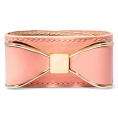 Decree® Peach Faux Leather Bracelet with Casted Bow  found at @JCPenney . Great for stacking 1
