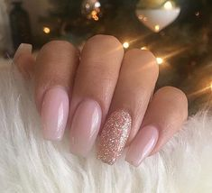 French Fade With Nude And White Ombre Acrylic Nails Coffin Nails French Ombre Nails with Gold Glitter;French Ombre Nails with Gold Glitter; Almond Acrylic Nails, Summer Acrylic Nails, Best Acrylic Nails, Acrylic Nail Designs, Baby Pink Nails Acrylic, Gold Nails, Fun Nails, Gold Glitter, Baby Pink Nails With Glitter