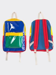 The Kindergarten Color Block School Bag! Mochila Hippie, Kindergarten Colors, Quirky Fashion, Retro Fashion, Denim Tote Bags, Designer Backpacks, Kids Bags, Pixie, Vintage Children
