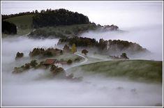 The Mostviertel - Beautiful Austria - Fred Vnoucek - Pixdaus Around The World In 80 Days, Places Around The World, Around The Worlds, Foggy Morning, Morning View, Beautiful Places, Beautiful Pictures, Beautiful Sky, Misty Day