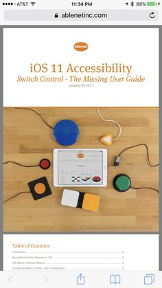iOS 11 Accessibility Switch Control - The Missing User Guide