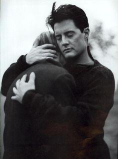 Linda Evangelista & Kyle MacLachlan by Steven Meisel for Vogue US, September 1993