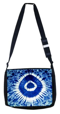 Blue circle tie dye Rosie Parker Inc. TM Medium Sized Laptop Messenger Bag 11.75' x 15.5' *** Read more  at the image link. (This is an Amazon Affiliate link and I receive a commission for the sales)