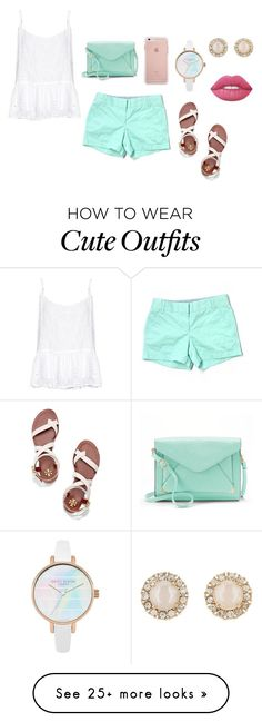 """""""Cute summer outfit"""" by emipooh on Polyvore featuring J.Crew, Velvet by Graham & Spencer, Tory Burch, Apt. 9, Kate Spade and Lime Crime"""