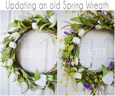 Update an old or thrifted Wreath for CHEAP!!