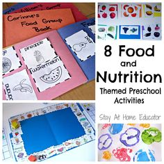 8 Food and Nutrition Themes Preschool Activities - There are so many great ids activities in this post that teach healthy eating!