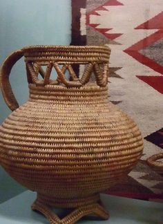 https://flic.kr/p/4AtsKP | Jicarilla Apache Woven Pitcher | Photographed at the Maryhill Museum of Art in Goldendale, Washington.