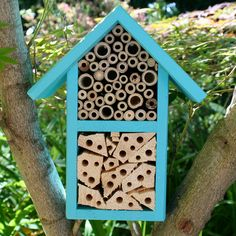 This DIY refers to building a hotel for leafcutter and mason bees. Description from greenergood.com. I searched for this on bing.com/images