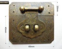 Leather suitcase Buckles wooden box Latch Box lock Hasp lock Box