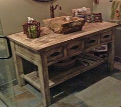 Vanities | Barnwood Vanity, Reclaimed Wood Rustic Vanities | Woodland Creek Furniture