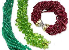 set of emerald, ruby, peridot and diamond jewelry, Schlumberger, Tiffany & Co.