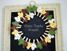 "Modify: instead of countdown, write family members names on leaves, they write their thankful on it when get to ""Granny's house"".  Use for next year's decor, repeat!  New tradition!"