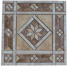 "21 1/2"" Ceramic Tile Medallion - Daltile's Heathland, floor or wall ebay $65"