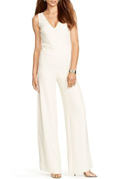7b219e5fff85 Lauren Ralph Lauren Sleeveless Crepe Wide Leg Jumpsuit available at   Nordstrom