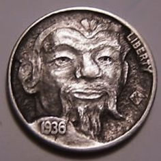 John Hughey - Emperor Hobo Nickel, Emperor, Cactus, Coins, Royalty, Carving, Royals, Rooms, Wood Carvings