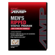 GNC Pro Performance AMP Mens Ripped Vitapak NonStimulate 30 Count -- Learn more by visiting the image link. (This is an affiliate link and I receive a commission for the sales)