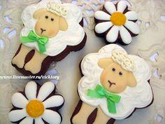 Расписные пряники. Пасха 2015. Пасхальные овечки. Cookies decorated.