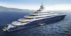 Designer Christopher Seymour has unveiled Double Century, a 200-metre monster that could become the biggest ever superyacht. The yacht is being marketed by 4Yacht Inc of Fort Lauderdale. With nine decks and rising 27 meters above the water, that is 20 metres longer the Lürssen Azzam, which launched in 2013. Features includes two helipads, a heli boarding lounge and a hangar bay that can store an EC135 helicopter. Guests will be able to move up and down the decks via eight elevators.