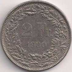 Wertseite: Münze-Europa-Mitteleuropa-Schweiz-Franken-2.00-1968-2015
