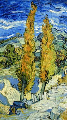 Vincent van Gogh: The Paintings (Two Poplars on a Road Through the Hills) Van Gogh is my favorite.Vincent van Gogh: The Paintings (Two Poplars on a Road Through the Hills) Van Gogh is my favorite. Vincent Van Gogh, Van Gogh Museum, Art Van, Van Gogh Arte, Van Gogh Pinturas, Cleveland Museum Of Art, Cleveland Ohio, Van Gogh Paintings, Dutch Painters