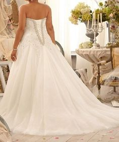 Vintage Lace And Tulle wedding dress  at Bling Brides Bouquet online Bridal Store