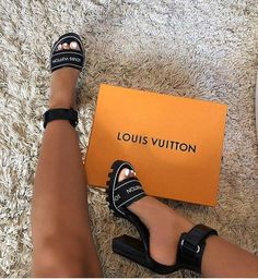 STYLE DETAILS One of the season's most wanted styles, this ankle-strap sandal features a graphic Louis Vuitton elastic on the front strap. - Glazed calf leather and patent calf leather- cm / inch heel- Rubber outsole True to Size True to Size. Zapatos Louis Vuitton, Louis Vuitton Strap, Louis Vuitton High Heels, Louis Vuitton Sneakers, Louis Shoes, Louis Vuitton Clothing, Louis Vuitton Accessories, Louis Vuitton Handbags, Dream Shoes
