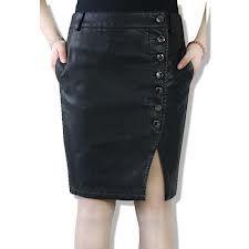 Google Image Result for http://i00.i.aliimg.com/wsphoto/v0/665180784_1/Autumn-Winter-Black-Dress-Step-Skirts-Package-Hip-Skirt-Washed-Leathe...