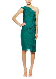On ideel: BADGLEY MISCHKA One-Shoulder Ruffle Dress