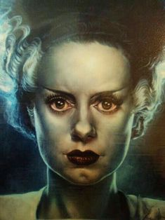 Elsa ❤ Bride of Frankenstein Horror Icons, Sci Fi Horror, Arte Horror, Horror Art, Beetlejuice, Horror Movie Characters, Frankenstein's Monster, Famous Monsters, Classic Horror Movies