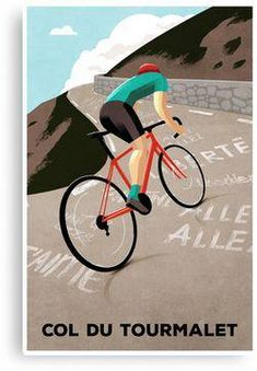 A classic climb from the Tour de France. / Original cycling poster by Andrew Rose for Super Chéz Bro. Velo Retro, Velo Vintage, Vintage Bicycles, Mountain Bike Accessories, Cool Bike Accessories, Cycling Art, Cycling Bikes, Cycling Quotes, Cycling Jerseys