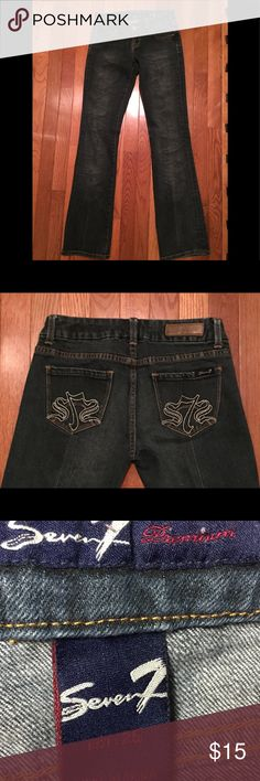 Seven7 Jeans Dark colored jeans style premium, these are in wonderful shape size 25 -S  99% cotton  1% spandex Seven7 Jeans Boyfriend
