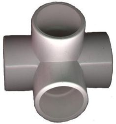 Furniture Grade 4 Way Elbow 4 per Order for 1/2 Inch PVC Pipe White by David's Garden Seeds by David's Garden Seeds. $13.75. Works with standard United States pipe sizes. Can be used for water but is not labeled with certification for water usage--fittings are scheduled 40. Sturdy and long lasting PVC fitting. Great for furniture projects. Excellent for building greenhouse PVC frames. These fittings are for building pipe structures, furniture and other fun stuff...