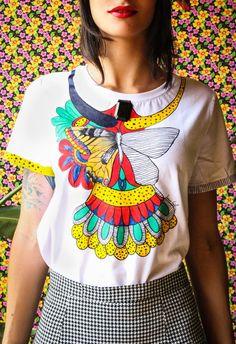 t-shirt handmade | burtterfly