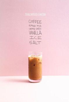 coffee shake recipe with dates, vanilla and salt.