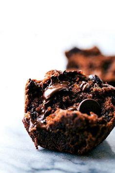 "Delicious ""bakery style"" GREEK YOGURT chocolate banana muffins made healthier"