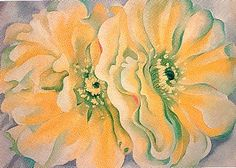Georgia O'Keeffe | Yellow Cactus Flower, 1929