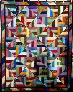 26 Scrappy Quilt patterns (bloglink to quiltville - good stuff here). #quilting #scrappy