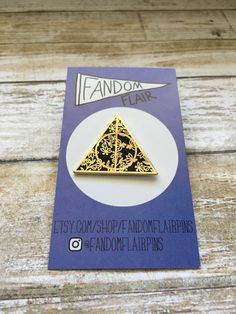 Deathly Hallows pin Hufflepuff Pin Floral by FandomFlairPins