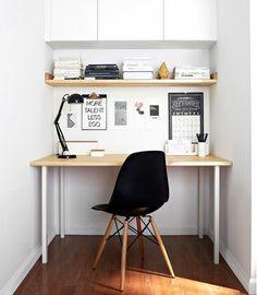 Home Office Pequeno: 21 Brilhantes Dicas + 50 Fotos                                                                                                                                                                                 Mais