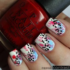 Paint All The Nails presents Animal Print • Casual Contrast