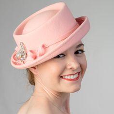 2e7f739de6f5d3 Soft Porkpie-Felt Stone Trim Hats-466511- Sun Yorkos | KaKyCo Accessories