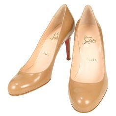 christian louboutin round-toe kitten pumps