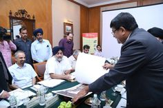 Infosys today announced it would start construction of its 25,000 seat Mohali facility within one month and complete the first stage of the project within 18 months.  Infosys Executive Vice President Ramadas Kamath gave this commitment to me during an interaction held here as part of the build up to the Invest Punjab summit being held in Mohali in October. he also showed me the building plans for the upcoming Mohali facility. #InvestPunjab ShiromaniAkaliDal #SukhbirSinghBadal