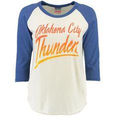 NBA Youth Girls Loud Fan Long Sleeve Hooded Tee Oklahoma City Thunder-Dark Navy-S 7-8
