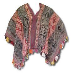 Peruvian Traditional Wool Vintage Poncho