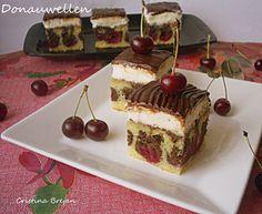 Reteta Valurile Dunarii (alta varianta) - Prajituri Romanian Desserts, Recipe Boards, Keep It Cleaner, Tiramisu, Deserts, Cherry, Dessert Recipes, Food And Drink, Pudding